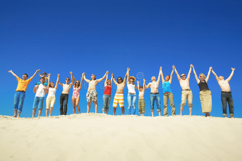 Group during summer stock photography