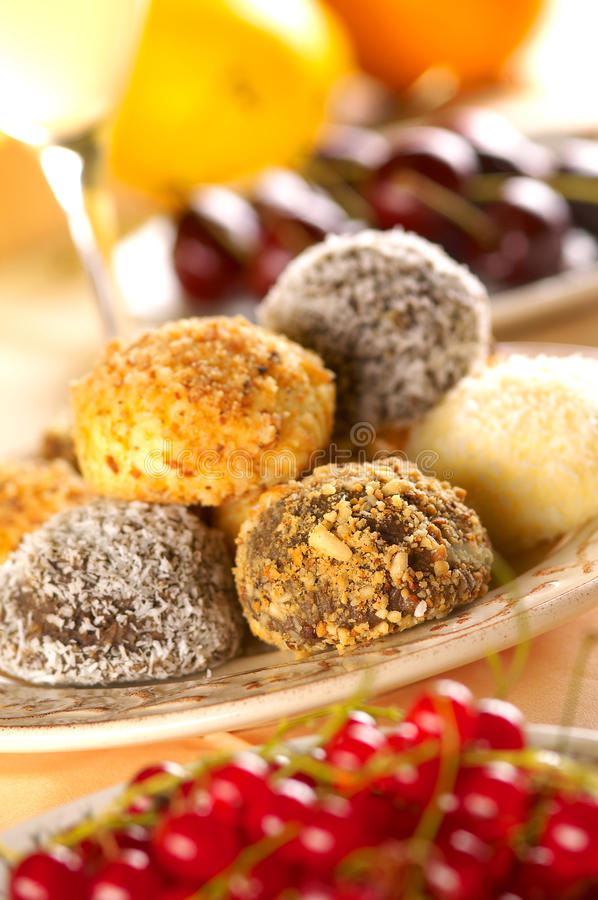 Download Group of sweet balls stock photo. Image of dish, cocoa - 26819614