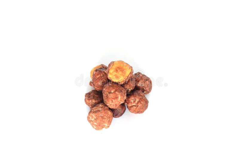 Group of sweet caramelized toasted peanuts.  stock images