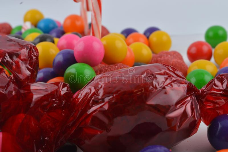 Group of sweets thrown together royalty free stock photo