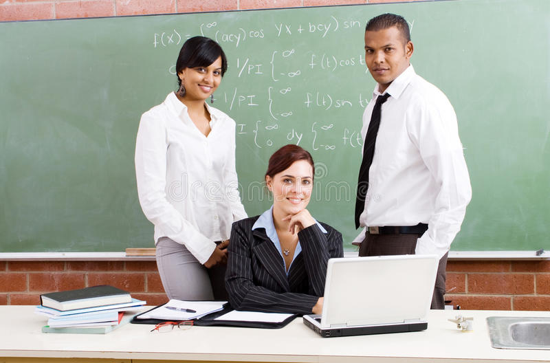 Group of teachers royalty free stock image