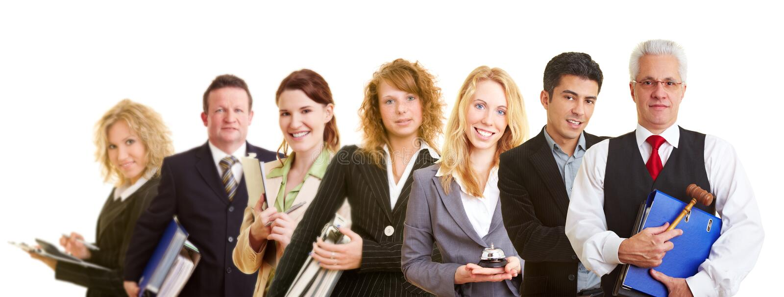 Group team of business people. Group team with many different happy business people stock photo