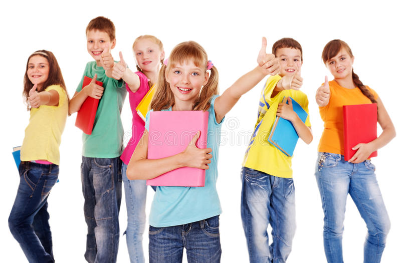 Download Group of teen people. stock photo. Image of group, cheerful - 26141600