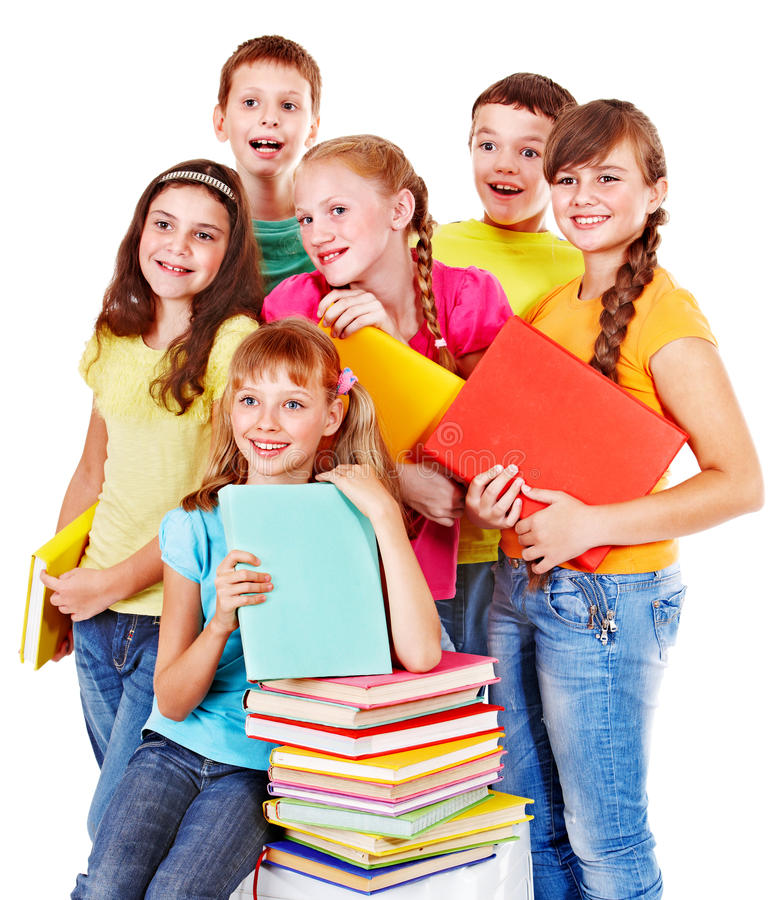 Download Group of teen people. stock photo. Image of little, grade - 26141658