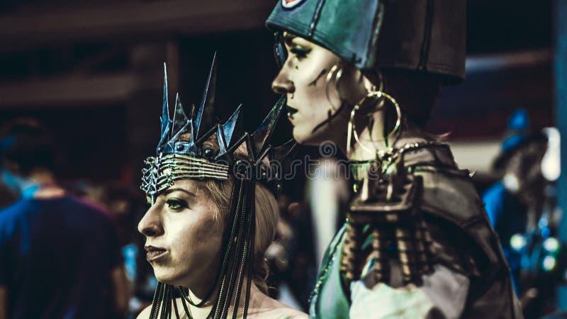 Group of teenage cosplayers, Saint-Petersburg, 13 november 2016. Group of teenage cosplayers, Saint-Petersburg stock photography