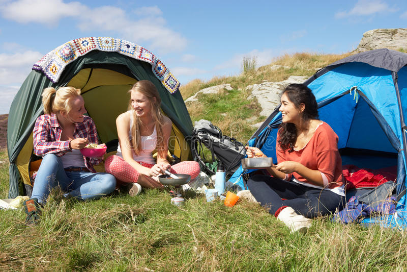 Teen girls camping photoes