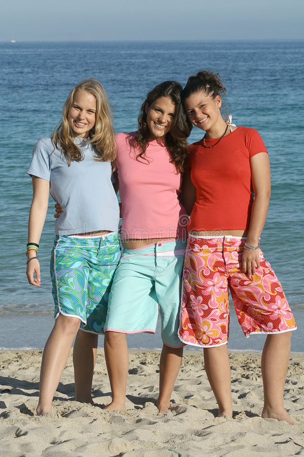 Download Group Teenagers Beach T Shirts Royalty Free Stock Image - Image: 615046