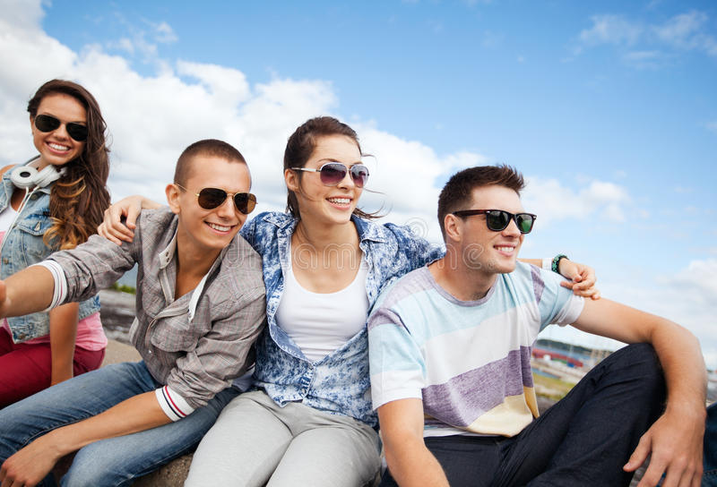Download Group Of Teenagers Hanging Out Stock Photo - Image: 34105602