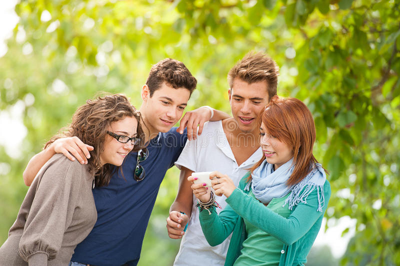 Group of teenagers posing for a group photograph royalty free stock photography