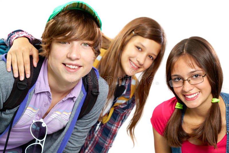 Download Group of teens stock image. Image of friendship, girl - 30954877