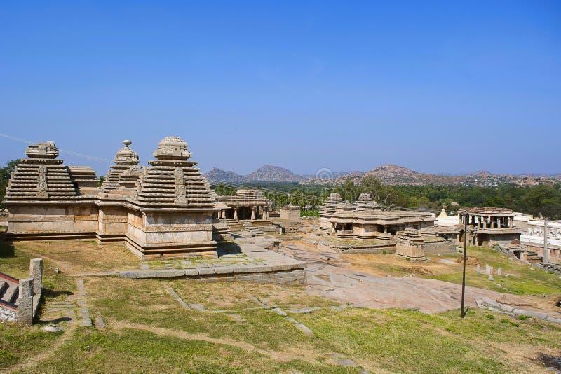 Group of temples, Hemakuta Hill, Hampi, Karnataka, India royalty free stock images