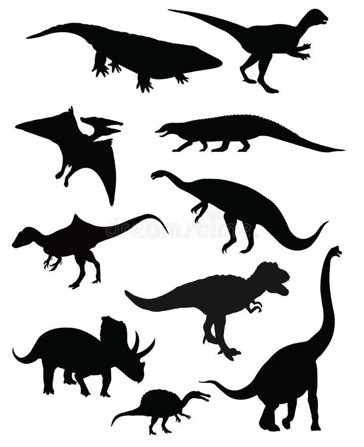 Download Group Of Ten Dinosaurs Isolated Stock Vector - Illustration of monstrous, predators: 48950050