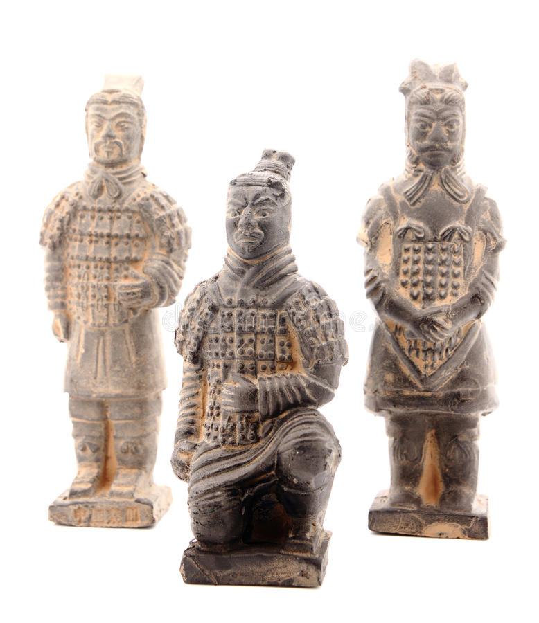 Group of terracotta warriors stock photos