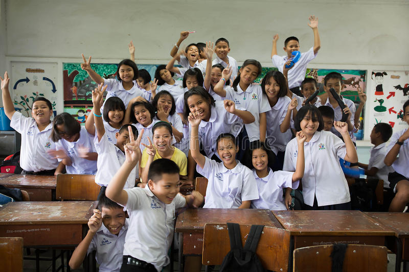Group of Thai Students in the classroom royalty free stock images