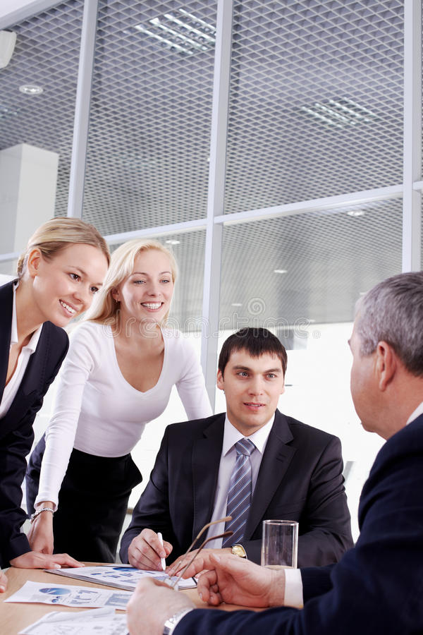 Download Group And Their Leader Royalty Free Stock Image - Image: 21562146