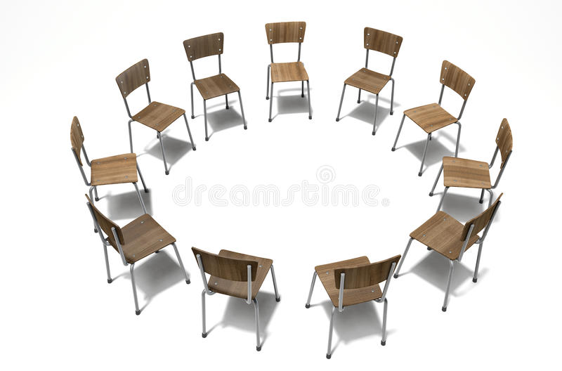 Download Group Therapy Chairs stock photo. Image of console, advice - 77356494