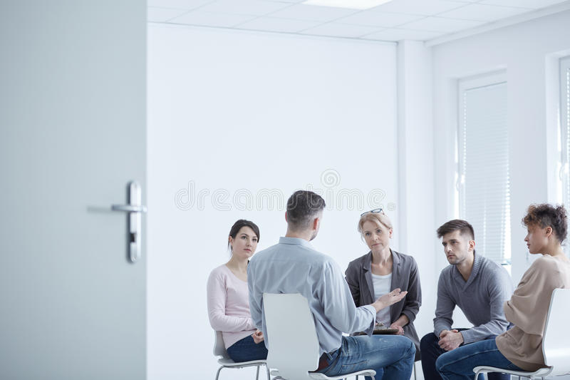 Group therapy for PTSD royalty free stock photography