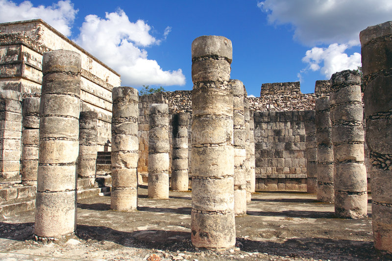 Group Of The Thousand Columns, Chichen-Itza Royalty Free Stock Photography
