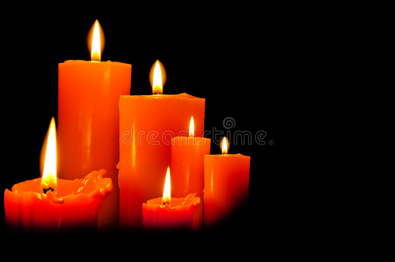 Download Group Of Three Candles Lights Stock Image - Image: 25273547
