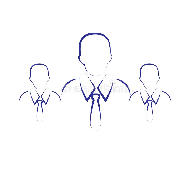 Group of three People Icon Vector Symbol royalty free illustration