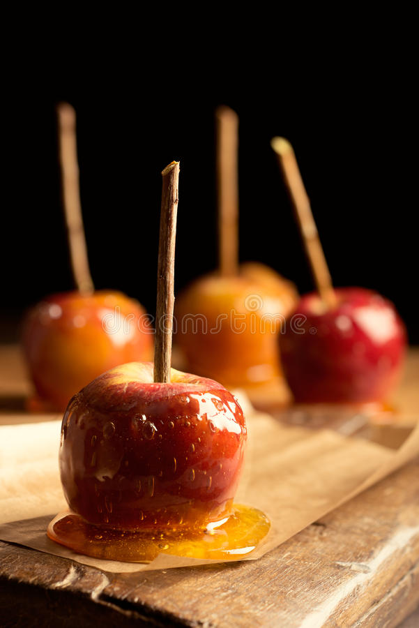 Download Group Of Toffee Apples stock photo. Image of wooden, copy - 35227954