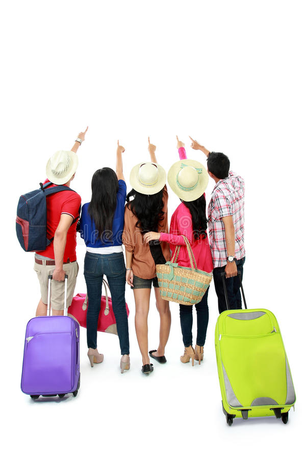 Download Group of tourist stock image. Image of pink, above, joyful - 29363065