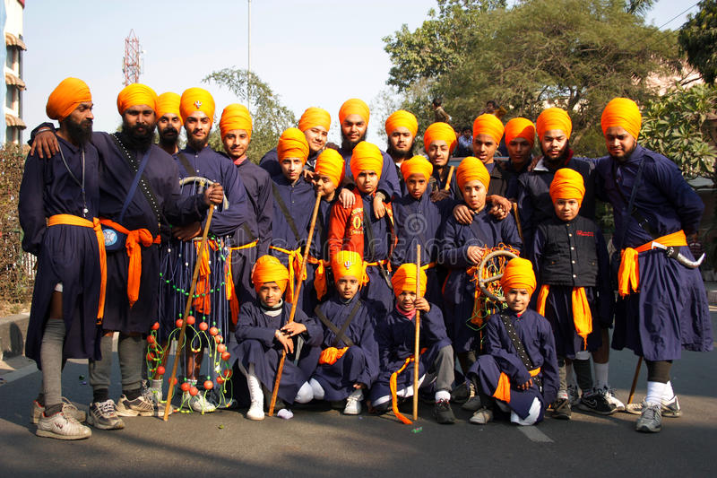 Download A Group Of Traditionally Dressed Young Sikh Boys Editorial Photography - Image: 26590707