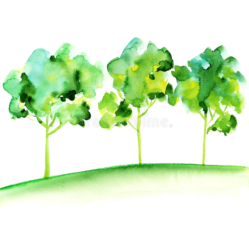 Download Group of tree stock illustration. Image of garden, tree - 23666207