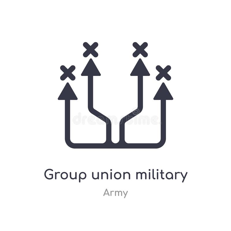 group union military strategy icon. isolated group union military strategy icon vector illustration from army collection. editable stock illustration