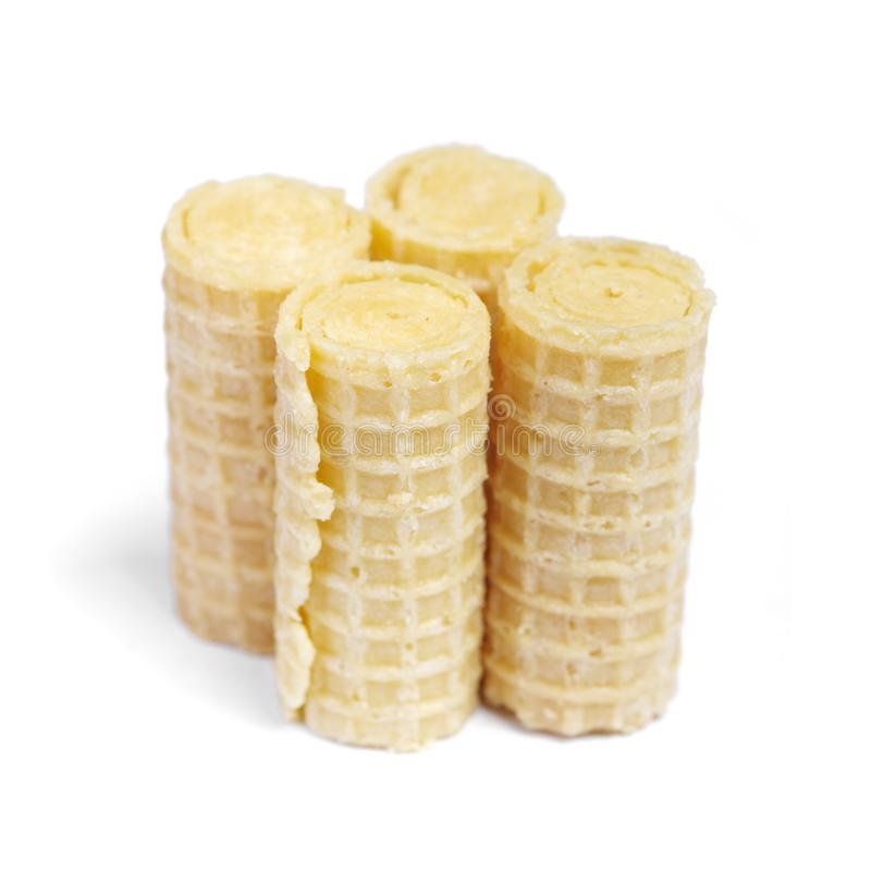 Group of wafer rolls royalty free stock images