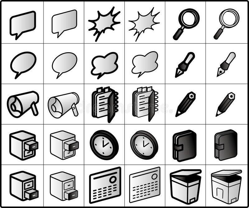 group-ware Icons royalty free illustration