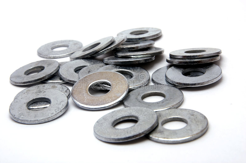 Group of Washers royalty free stock image