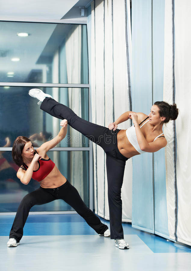 Download Healthy Woman At Fitness Fighting Training Royalty Free Stock Photo - Image: 30159655