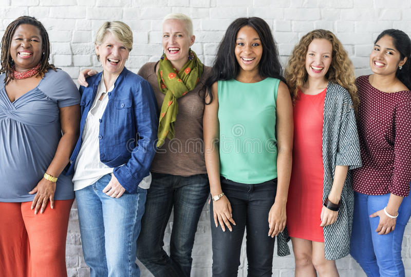 Group of Women Happiness Cheerful Concept stock photography