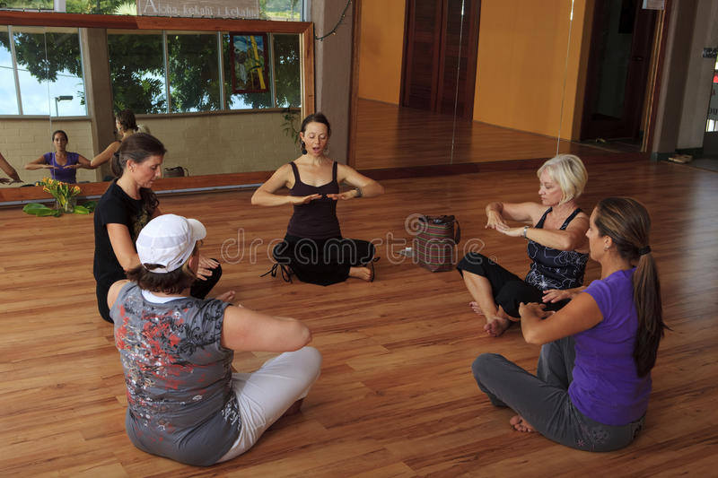 Download Group Of Women In A Nia Exercise Class Stock Image - Image: 13558705