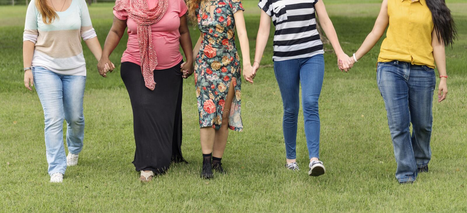 Group of Women Socialize Teamwork Happiness Concept royalty free stock photos