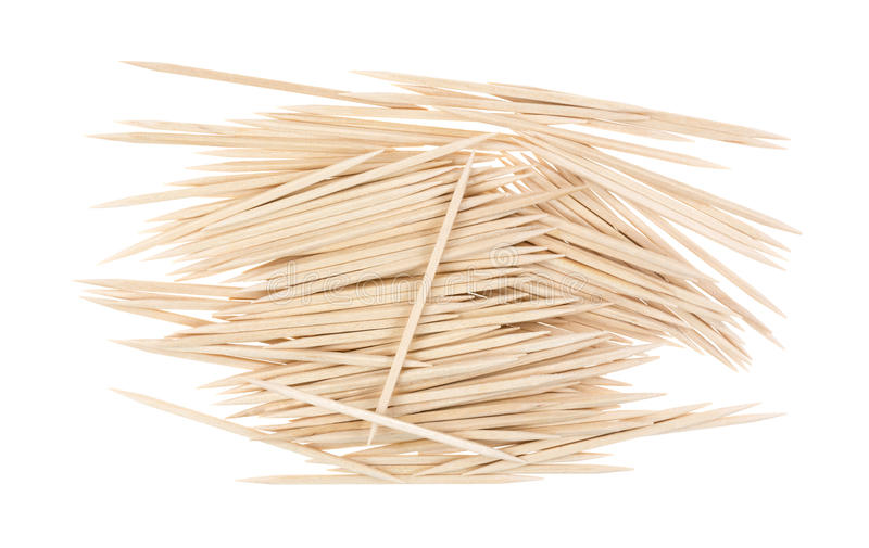 Download Group Wooden Toothpicks On White Stock Photo - Image: 38281328