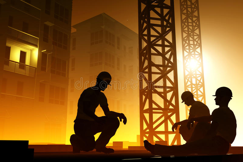 Download The Group Of Workers Royalty Free Stock Image - Image: 22598066