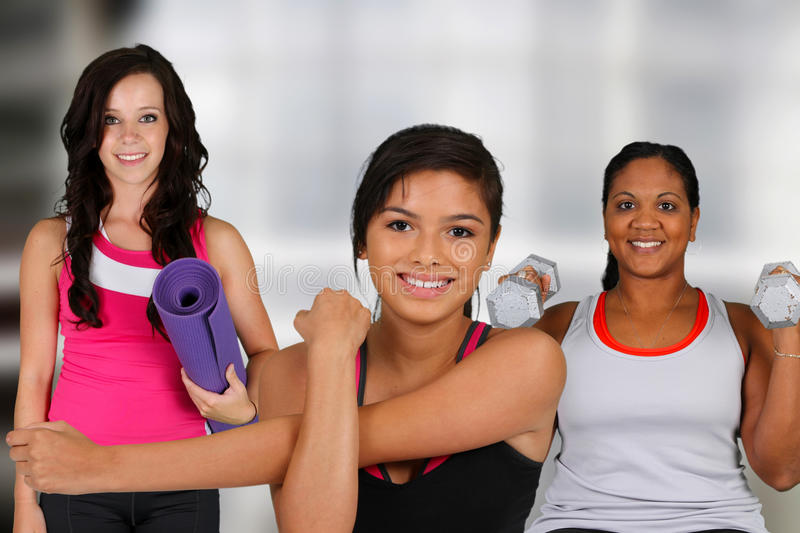 Download Group Working Out stock image. Image of pretty, lifestyle - 25992241