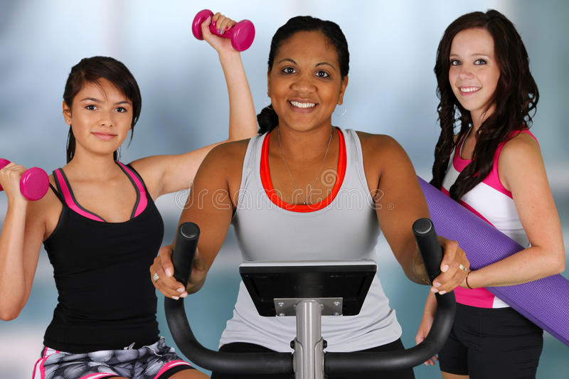 Group Working Out Stock Images