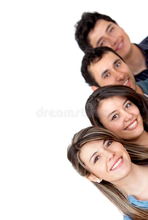 Download Group of young adults stock photo. Image of content, adults - 12836228