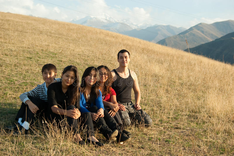 Group of young asian people stock image