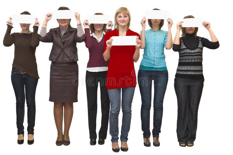 Group young beautiful women stock photos