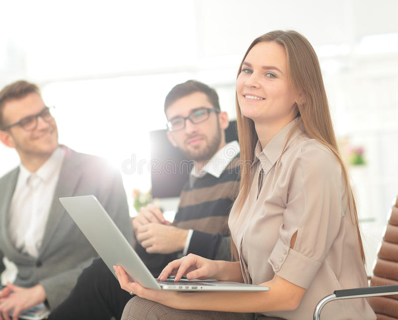 Group of young business people gathered together discussing crea. Business Team Working Office Worker Concept stock images