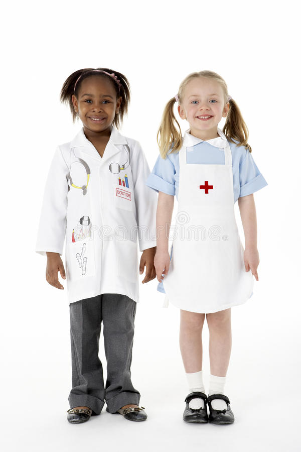 Group Of Young Children In Studio stock photos