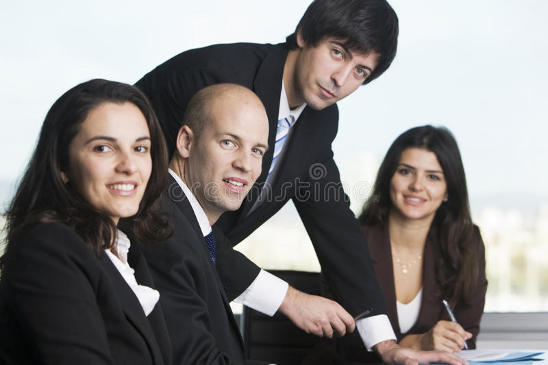 Group of young entrepreneurs royalty free stock images