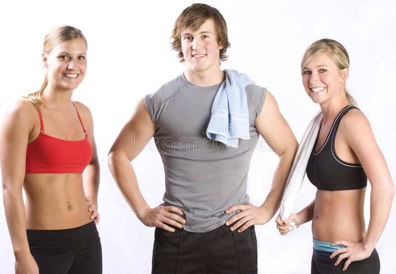 Group of young healthy people stock photos