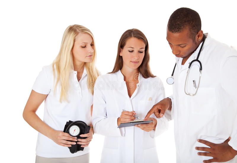 Group of young medical professionals royalty free stock image