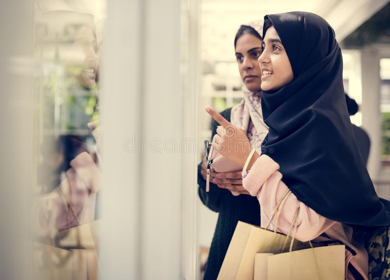 A group of young Muslim women royalty free stock photo