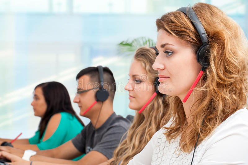 Group of young office workers. stock photography